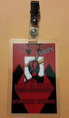 Deadpool Id-Plakette - Deadpool Corps Lady Deadpool Wanda Wilson Cosplay - Lady Deadpool Kostüm