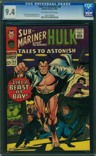 Tales to Astonish #84 CGC 9.4 -- 1966 -- Boomerang. Krang. Dorma. #0127755007