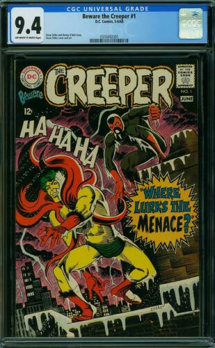 Beware the Creeper #1 CGC 9.4 DC 1968 Rare Book in High Grade! K4 331 cm clean