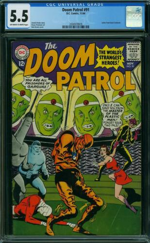 Doom Patrol #91 CGC 5.5 -- 1964 -- Master of Plastic Men #2004939009