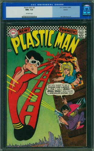 Plastic Man #3 CGC 9.6 DC 1967 Rare Silver Age! Boston Pedigree! K12 311 1 cm