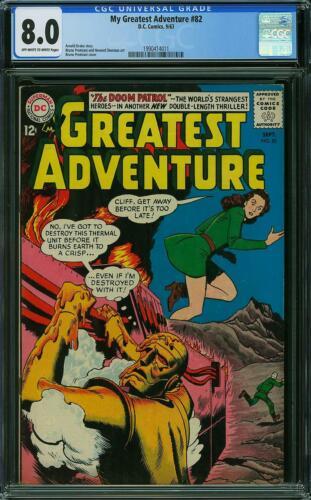 My Greatest Adventure #82 CGC 8.0 DC 1963 Early Doom Patrol! K4 111 80 cm