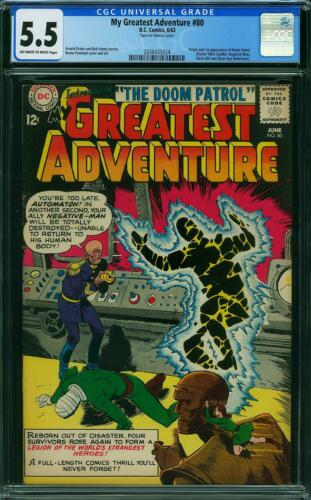 MY GREATEST ADVENTURE 80 CGC 5.5 PRESENTS 6.5 FIRST APPEARANCE OF DOOM PATROL A6
