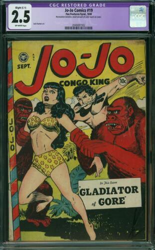 JO-JO COMICS 19 CGC 2.5 R Jack Kamen Jungle Good Girl Art Fox Features 1948