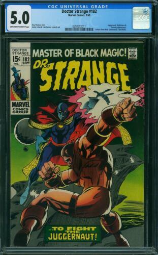 Doctor Strange 182 CGC 5.0 -- 1969 -- Juggernaut Battle. Eternity. #0292952011