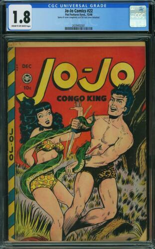 JO JO COMICS 22 CGC 1.8 Sexy Good Girl Art Jungle Comics Fox Features 1948