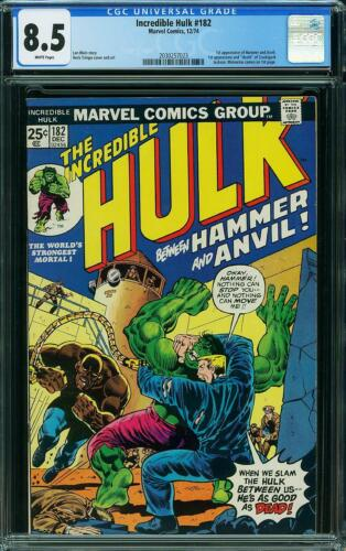 INCREDIBLE HULK ISSUE 182 DEC 1974 | VF+ CGC 8.5 | COMPLETES WOLVERINE 1ST APP