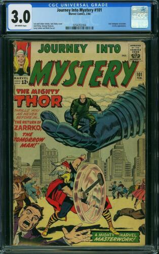 Journey into Mystery 101 CGC 3.0 -- 1964 -- Zarrko. Avengers X-ovr #0354352004