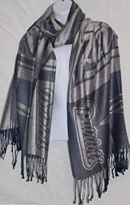 NFL New England Patriots Pashmina Scarf Style Soft Fashion Unisex 100% Viscose