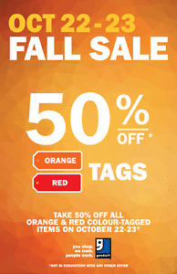 GOODWILL 50% OFF TAG SALE - October 22-23 Kitchener / Waterloo Kitchener Area image 2