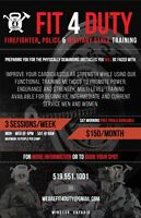 HIIT Firefighter,Police, Military prep boot camp
