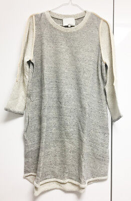 [3.1 Phillip Lim] Unique Gray Sweatshirt Top Casual Dress Sz M / New without Tag