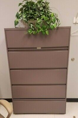 Hon 695ll 600 Series Five-drawer Lateral File - 42w X 19 D Brown Xlnt Local Only