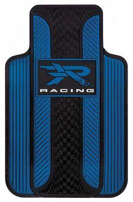 Plasticolor Velocity Style R Racing Blue Floor Mat, 2-Piece 001727R02