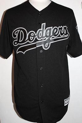 MLB Los Angeles Dodgers Cool Base Custom Black Baseball Jersey Custom Mlb Baseball Jerseys