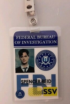 Criminal Minds ID Badge - Spencer Reid costume prop cosplay (Spencers Costumes)