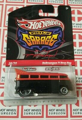 Hot Wheels Phil's Garage Volkswagen T1 Drag Bus * Orange * NIP 1:64 Scale