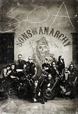 Sons Of Anarchy New Tv Series Art Silk Fabric Poster 11 X17