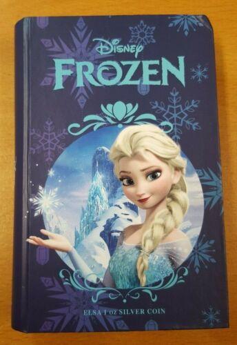 2016 Niue Disney Frozen ~ Elsa 1oz Colorized Proof Silver Coin ~ NEW