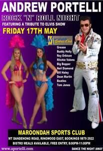 Elvis Show, Vegas Show Girls, Rock N Roll Night