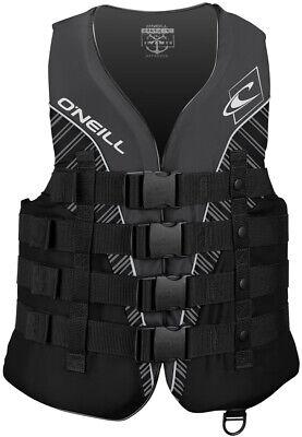 ONeill Mens Superlite USCG Life Vest ,Black/Black/Smoke/White,Medium Black Mens Life Vest
