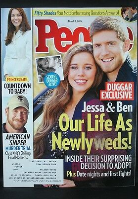 People Magazine Mar 2015  Lot Of 5   Jessa Duggar  Kelly Clarkson  Bruce Jenner