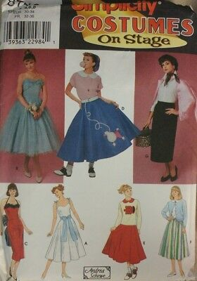 Simplicity Sewing Pattern 8742 Misses Grease Costumes Sizes 4-8 Rizzo Sandy - Plus Size Sandy Costume
