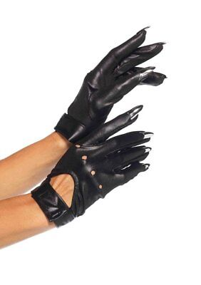 Cat Claws Costume (Gloves Motorcycle Style Cat Claw Stretch Knit Costume Gloves)