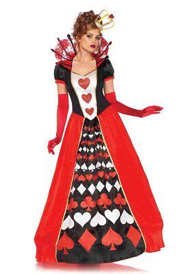Leg Avenue Deluxe Königin der Herzen Wunderland Damen Halloween Kostüm 85593