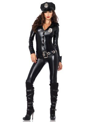 Leg Avenue Sexy Police Officer Payne cop Costume 4 pc - Female Cop Outfit