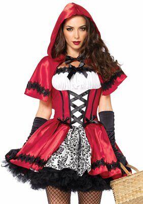 Leg Avenue Gothic Rotkäppchen Märchen Erwachsene Damen Halloween - Gothic Rotkäppchen