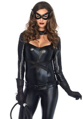 Leg Avenue Cat Girl Sexy Jumpsuit Bodysuit Adult Womens Halloween Costume 85015 - Catgirl Costumes
