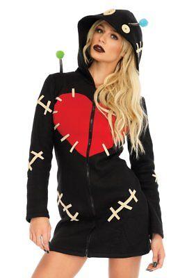 Leg Avenue Cozy Voodoo Doll Dress Creepy Adult Womens Halloween Costume 86669