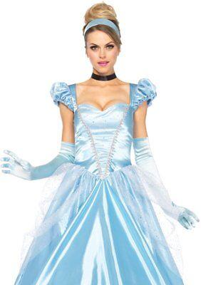 Cinderella 3 Teile Damen Halloween Kostüm 85518 (Damen Halloween Kostüm Cinderella)