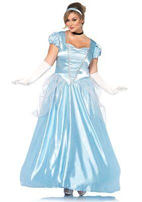 Leg Avenue Classic Cinderella Adult Womens Plus Size Halloween Costume 85518X