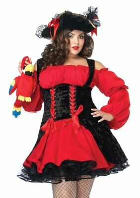 Sexy Leg Avenue Vixen PIRATE Wench Women's Halloween Costume Plus Size 3X/4X  - Leg Avenue Pirate Wench Costume