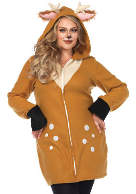 Leg Avenue Cozy Fawn Zoo Animal Dress Plus Size Womens Halloween Costume 85587X](Fawn Costume Halloween)