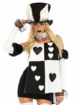 Leg Avenue Alice in Wonderland White Rabbit Dress Adult Halloween Costume 86714