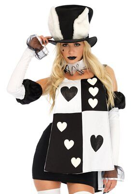 Leg Avenue Alice in Wonderland White Rabbit Dress Adult Halloween Costume 86714 (White Rabbit Halloween Costume Alice Wonderland)