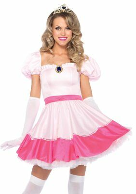 Leg Avenue Pink Princess Peach Toadstool Adult Womens Halloween Costume 83094](Princess Toadstool Halloween Costume)