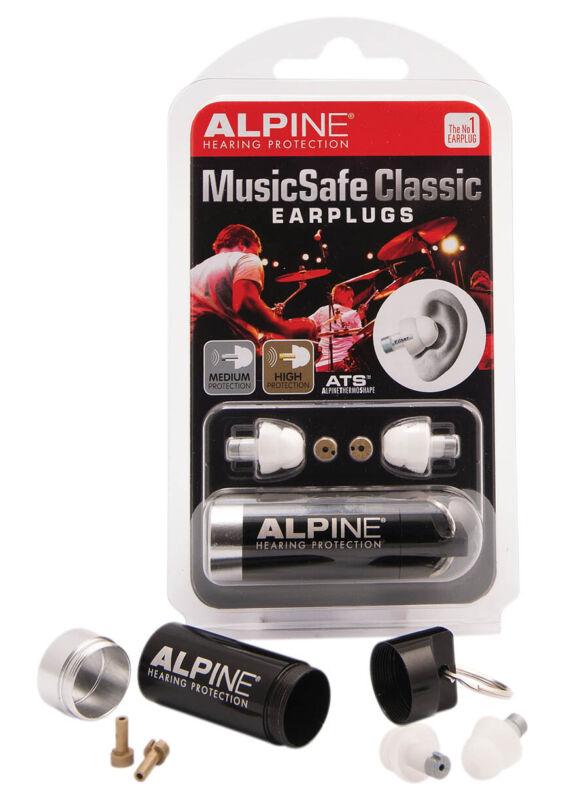 New Alpine Musicsafe Classic Earplugs Single Earplugs Hearing Ear Protection