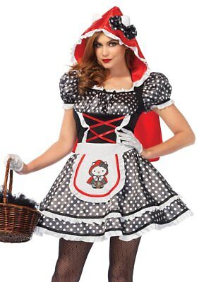 Leg Avenue Hello Kitty Red Riding Hood Adult Womens Halloween Costume HK86671 ()