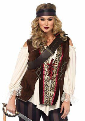 Plus Size Pirate Costume 3x (NEW Plus Size Sexy Captain Blackheart Pirate Halloween Costume - Leg)