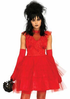 Beetle Halloween Costumes (Leg Avenue Beetle Bride Beetlejuice Lydia Adult Womens Halloween Costume)