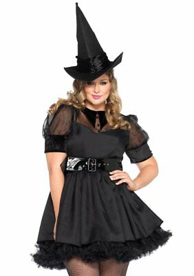 Sexy Leg Avenue Bewitching WITCH Womens Halloween Costume Dress Plus Size 3X/4X  - 3x Halloween Costume Womens