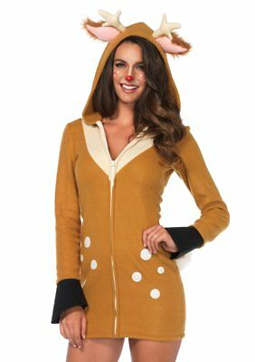 Leg Avenue Cozy Fawn Animal Zoo Adult Womens Dress Halloween Costume 85587](Zoo Animal Halloween Costumes)