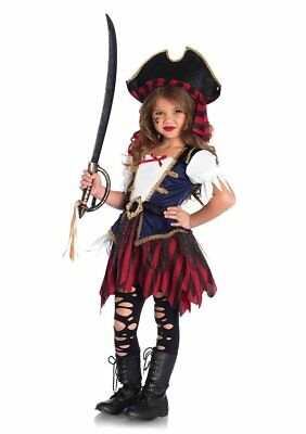 Girls Caribbean Pirate Costume Enchanted Costumes 2pc set - 2 Girls Costumes