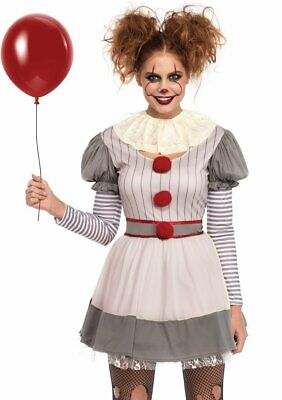 Leg Avenue Creepy Clown IT Pennywise Dress Adult Womens Halloween Costume 86729 - Women Halloween Costumes