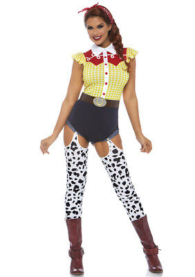 Leg Avenue 3pc Giddy Up Cowgirl, Multicolor - - Giddy Up Kostüm