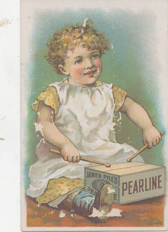 D1861  VICTORIAN TRADE CARD PEARLINE SOAP THEODORE ROOSEN ROCKLAND MAINE